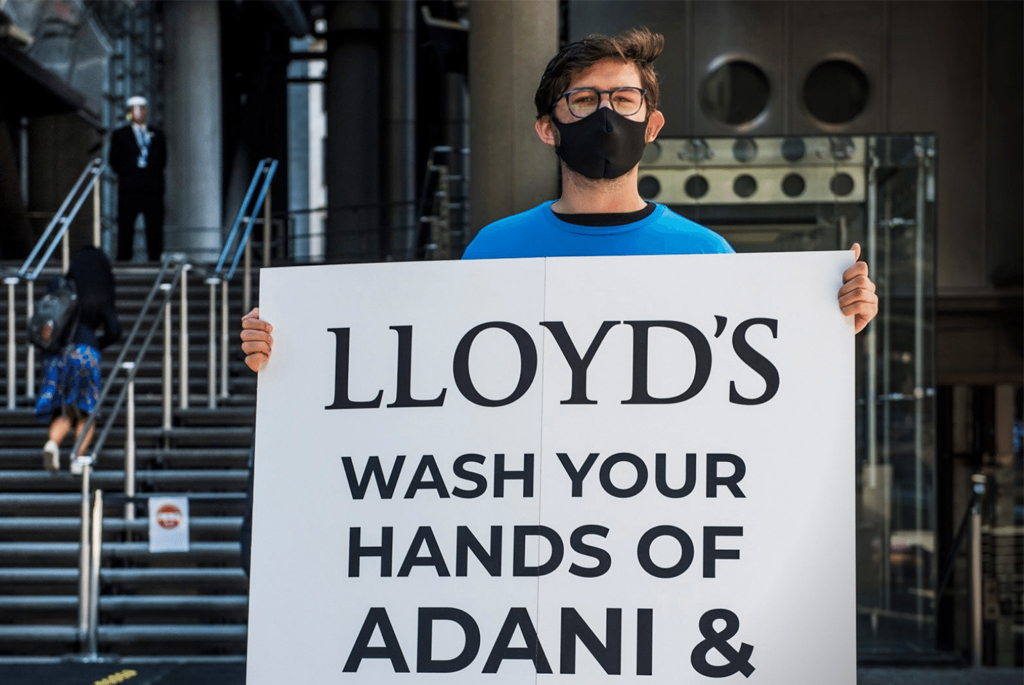 Right now, Lloyd's of London is insuring climate wrecking coal mines across the world. Help us stop them insuring the Adani mega-mine in Australia.